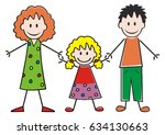family  mother  daughter and... | Shutterstock .eps vector #634130663