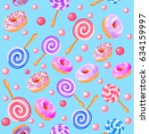 illustration of seamless sweet...   Shutterstock .eps vector #634159997