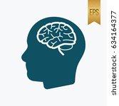 brain human icon. flat isolated ...   Shutterstock .eps vector #634164377