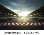 f1 evening circuit motion blur... | Shutterstock . vector #634164797