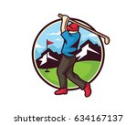 modern golf logo   professional ... | Shutterstock .eps vector #634167137