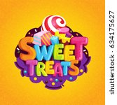 sweet treats. cartoon vector... | Shutterstock .eps vector #634175627