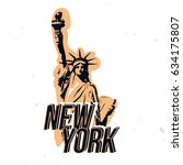 new york wear design with... | Shutterstock .eps vector #634175807
