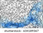 polygon background. abstract... | Shutterstock .eps vector #634189367