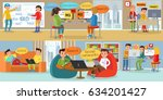 business web development... | Shutterstock .eps vector #634201427