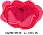 illustration of flower on a... | Shutterstock .eps vector #63420715