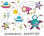 set of drawings space | Shutterstock .eps vector #634207787