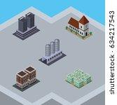 isometric building set of... | Shutterstock .eps vector #634217543