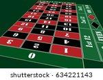 traditional european roulette... | Shutterstock .eps vector #634221143