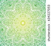 colorful ornate mandala in... | Shutterstock .eps vector #634227053