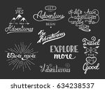 set of adventure and travel... | Shutterstock . vector #634238537