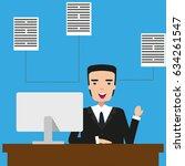 vector inforgraphic... | Shutterstock .eps vector #634261547