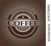 coffee retro style wooden emblem | Shutterstock .eps vector #634275893
