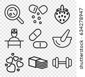 health icons set. set of 9... | Shutterstock .eps vector #634278947