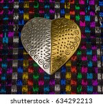 Gold And Silver Metal Heart...