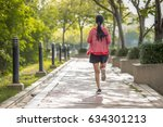 the back of asian beautiful... | Shutterstock . vector #634301213