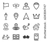 location icons set. set of 16... | Shutterstock .eps vector #634304747