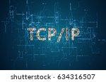 3d rendering. word  tcp ip ... | Shutterstock . vector #634316507
