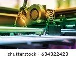3d printer printing | Shutterstock . vector #634322423