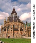 Small photo of Ottawa, Canada - May 18, 2008: The Library of Canadian Parliament.