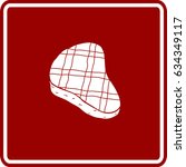 grilled steak sign | Shutterstock .eps vector #634349117