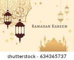 ramadan kareem celebrate... | Shutterstock .eps vector #634365737