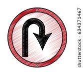 u turn arrow traffic signal icon | Shutterstock .eps vector #634371467
