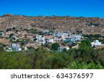 white town by the sea. island... | Shutterstock . vector #634376597