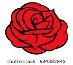 red rose isolated on white... | Shutterstock .eps vector #634382843