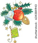 christmas decorations | Shutterstock .eps vector #634384943