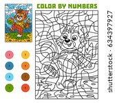 color by number  education game ... | Shutterstock .eps vector #634397927