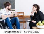 therapist discussing reports