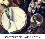 reserved service elegance... | Shutterstock . vector #634442747