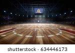 professional basketball court... | Shutterstock . vector #634446173