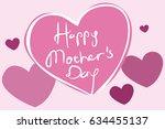 mother's day vector...   Shutterstock .eps vector #634455137