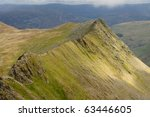 Striding Edge  Mountain Ridge...
