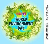 world environment day. concept...   Shutterstock .eps vector #634468967