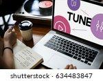 music streaming media... | Shutterstock . vector #634483847