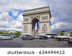 paris  france circa may 2015.... | Shutterstock . vector #634494413
