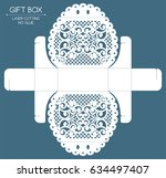 openwork gift box with a lace...
