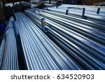 cylindrical steel pipe ... | Shutterstock . vector #634520903