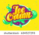 vector flat ice cream shop ... | Shutterstock .eps vector #634527293