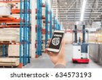 warehouse storage of retail... | Shutterstock . vector #634573193