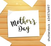 mother's day greeting card with ... | Shutterstock .eps vector #634576997