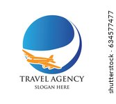 air plane logo  travel world... | Shutterstock .eps vector #634577477
