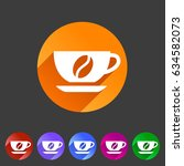 coffee cup coffee bean icon...   Shutterstock .eps vector #634582073