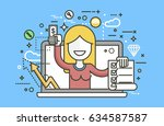 stock vector illustration woman ... | Shutterstock .eps vector #634587587