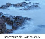 sea and the stone . | Shutterstock . vector #634605407