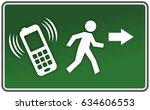 abstract running figure on...   Shutterstock . vector #634606553