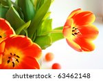 Orange Tulips In The Vase